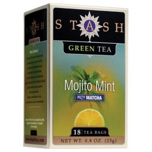 Stash Tea Company Mojito Mint Green Tea, 18-Count Tea Bags (Pack of 6)