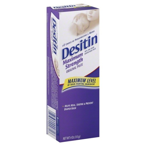 Desitin Diaper Rash Paste,Maximum Strength,Original,4 oz (113 g)