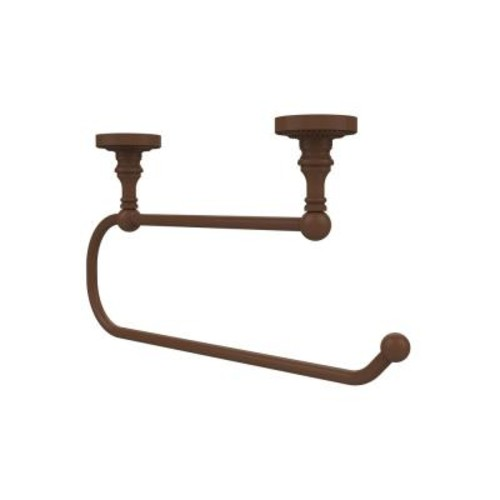 Allied Brass Dottingham Collection Under Cabinet Double Post Toilet Paper Holder in Antique Bronze