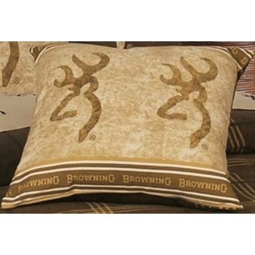 Browning Buckmark Decorative Pillow