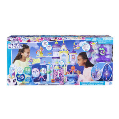 Hasbro My Little Pony The Movie Canterlot and Seaquestria Castle with Light-Up Tower Pl