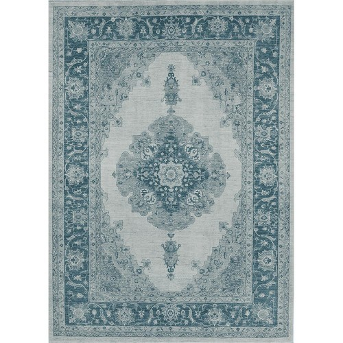 Ruggable Washable Parisa Blue 5 ft. x 7 ft. Stain Resistant Area Rug