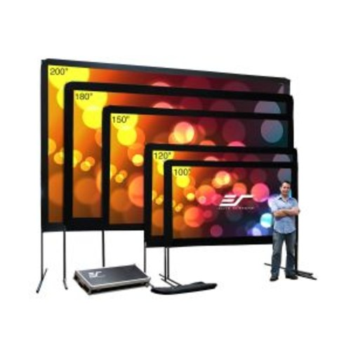 Elite Screens Yard Master Series OMS180H1 - Projection screen with legs - 180 in ( 457 cm ) - 16:9 - DynaWhite