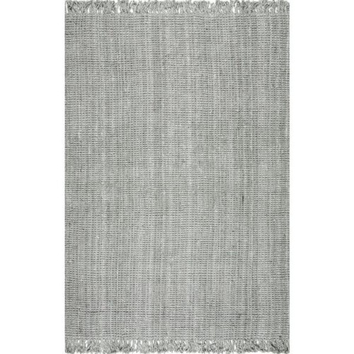 nuLOOM Chunky Loop Jute Grey 8 ft. 6 in. x 11 ft. 6 in. Area Rug