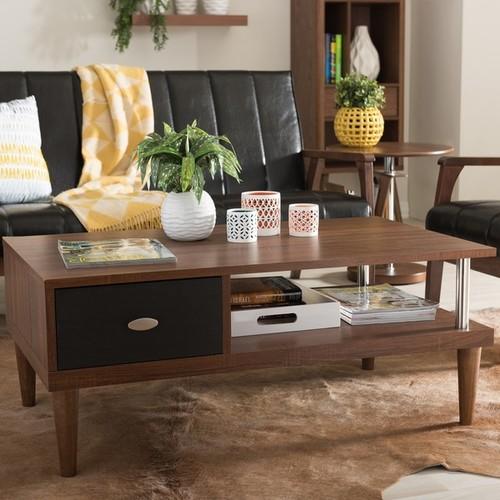 Baxton Studio Eastman Sonoma Oak Finishing Modern Coffee Table