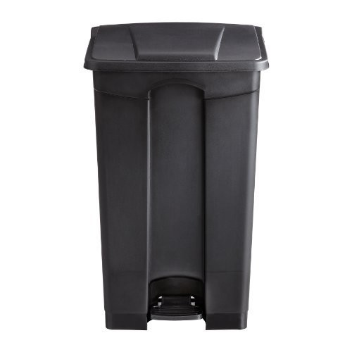 Safco Products 9923BL Plastic Step-On Waste Receptacle, 23-Gallon, Black [Black, 23-Gallon]