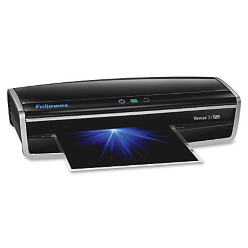 Fellowes Venus2 125 Laminator With Pouch Starter Kit, Black