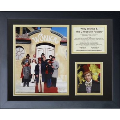Legends Never Die Willie Wonka and the Chocolate Factory Framed Memorabilia