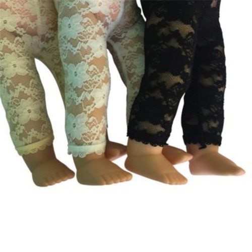 York Doll Collection Lace Leggings, Multi-Color - Set of 3 (NYDC1143)