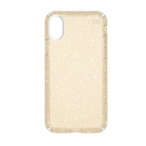 Speck iPhone X Case Presidio - Gold Glitter