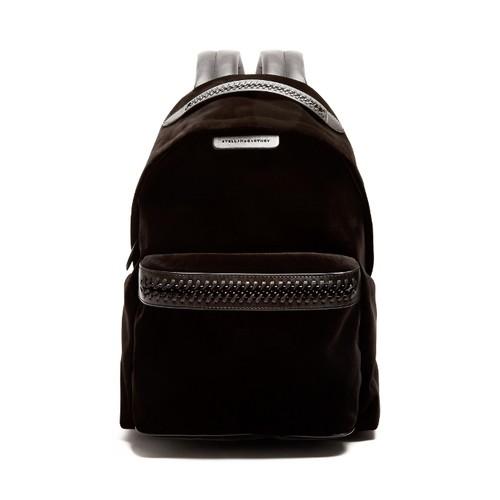 Falabella Go medium velvet backpack