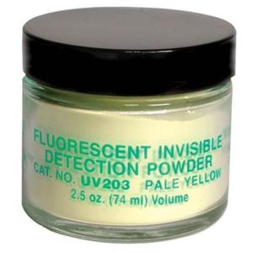 Sirchie Fluorescent Invisible Detection Powder, Pale Yellow/Brilliant Yellow,2oz UV203