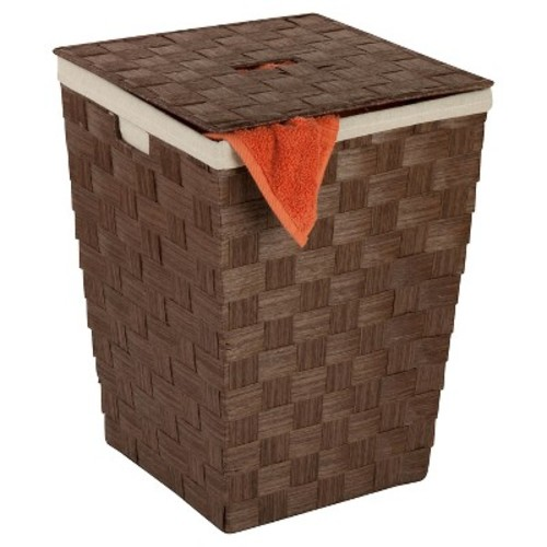Honey-Can-Do Paper Rope Hamper Brown