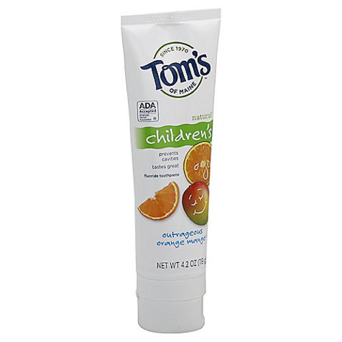 Tom's Of Maine Children's Anticavity Toothpaste in Outrageous Orange-Mango Flavor