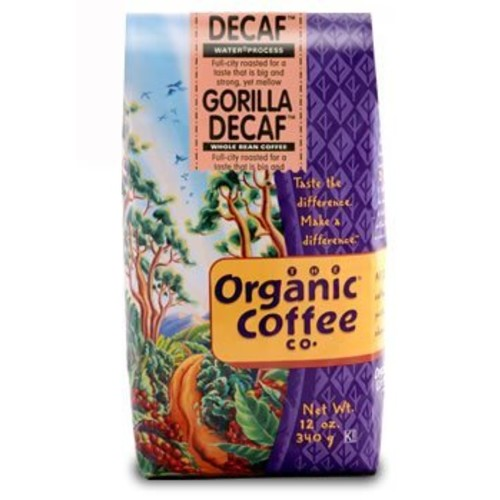 Organic Coffee Organic Gorilla Coffee, Decaf, 12 oz [Decaf]