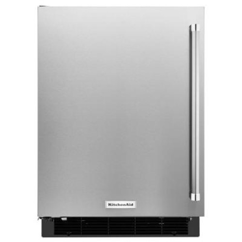 KitchenAid 24 in. W 4.9 cu. ft. Undercounter Refrigerator in Stainless Steel