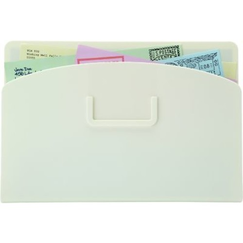 Quartet Magnetic Mail Organizer Storage Pouch, White, 10