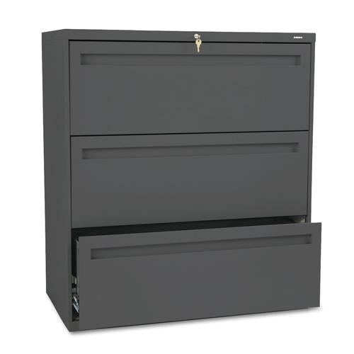 HON 700 Series 36-Inch Wide Three-Drawer Lockable Lateral-File Cabinet
