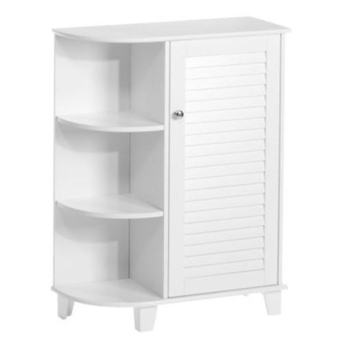 RiverRidge Home Ellsworth 23-5/8 in. W x 31-1/10 in. H Bathroom Linen Storage Floor Cabinet with Side Shelves in White