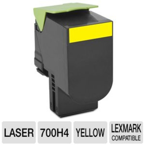 Lexmark 700H4 - High Yield - yellow - original - toner cartridge LCCP - for CS310dn, CS310n, CS410dn, CS410dtn, (70C0H40)