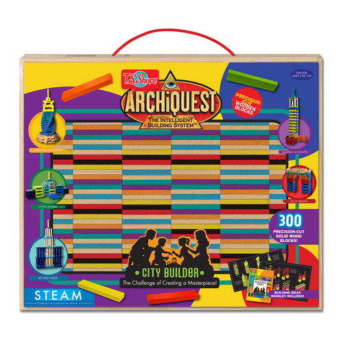 TS Shure ArchiQuest Deluxe City Builder Wooden Blocks