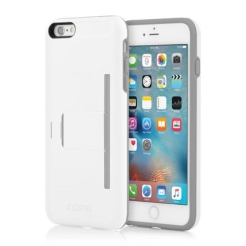 Incipio STOWAWAY Advance Case for iPhone 6 Plus in White/Grey