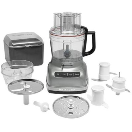 KitchenAid KFP1133CU 11-Cup Food Processor with ExactSlice System - Contour Silver [Contour Silver]
