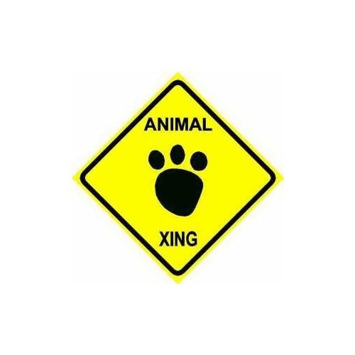 ANIMAL CROSSING sign * street tracks pets