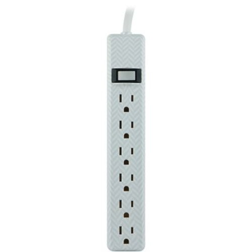 Jasco 26601 6-outlet Patterned Power Strip, 4ft Cord