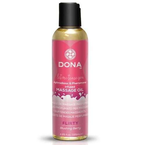 Dona Scented Massage Oil Flirty Aroma Blushing Berr