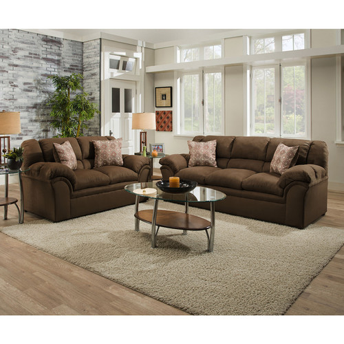Simmons Upholstery Venture Chocolate Loveseat