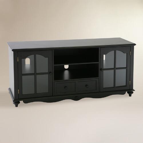 Antique Black Arley Media Stand