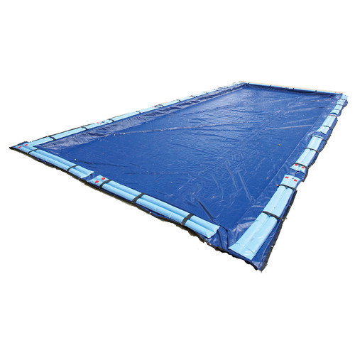 Blue Wave 15-Year Rectangular In Ground Pool Winter Cover In Assorted Sizes [Overall Dimensions : 25 W x 50 L ft.]