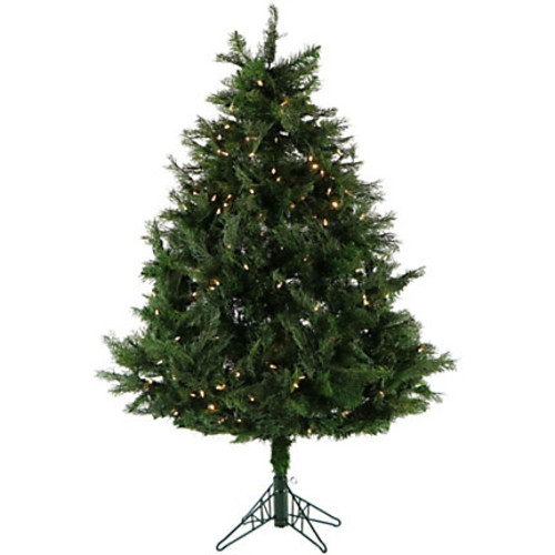Fraser Hill Farm 5' Artificial Northern Cedar Teardrop Christmas Tree With Clear Smart String Lighting And EZ Connect