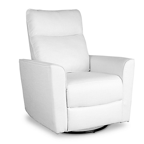Baby Appleseed Crosby Comfort Swivel Glider in White