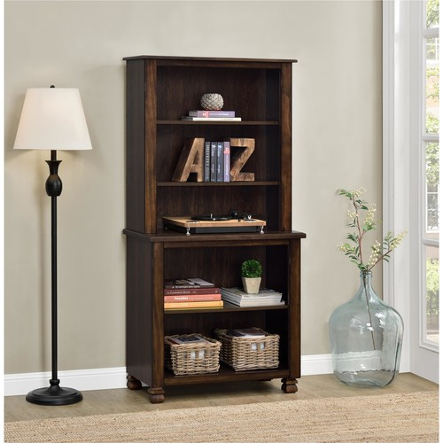 Ameriwood Home San Antonio Wood Veneer Bookcase - Espresso
