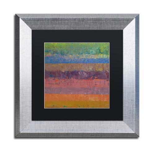 Michelle Calkins 'Pink Line' Matted Framed Art