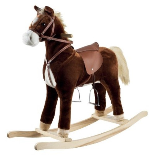 Happy Trails Plush Rocking Horse - Brown