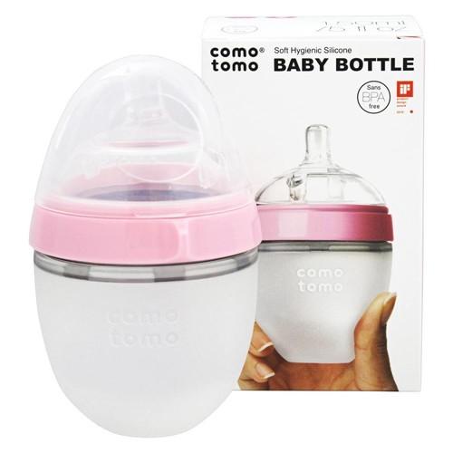 Comotomo Silicone 5 Ounce Baby Bottle - Pink