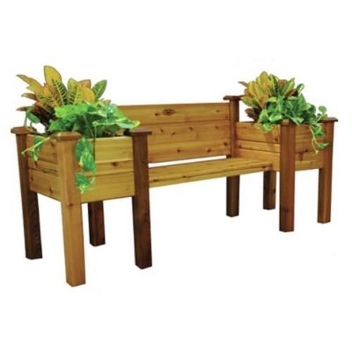 Gronomics Novelty Wood Planter Bench; Safe