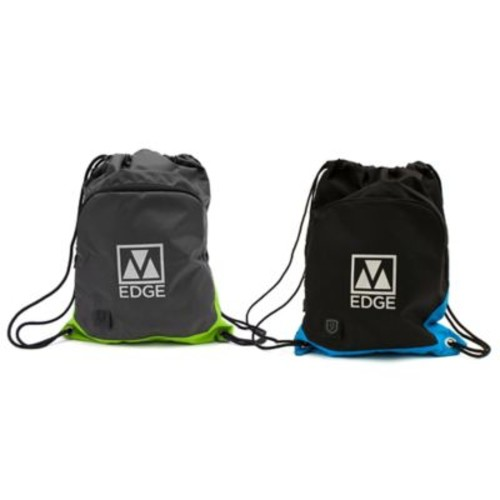 M-Edge 18-Inch Tech Sackpack with Battery in Black/Blue