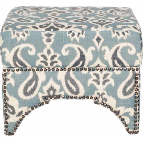Safavieh Declan Ottoman Color: Blue / Grey / Off White
