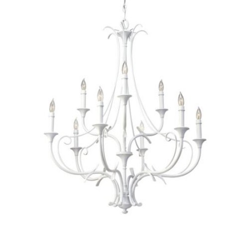 Murray Feiss F2534/6-3 Peyton 9 Light Wrought Iron 2 Tier Chandelier