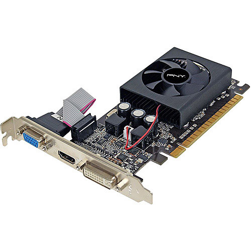 PNY VCGGT610XPB GeForce 1024MB 64-bit DDR3 HDCP Ready Graphics Card [Black, 1GB]