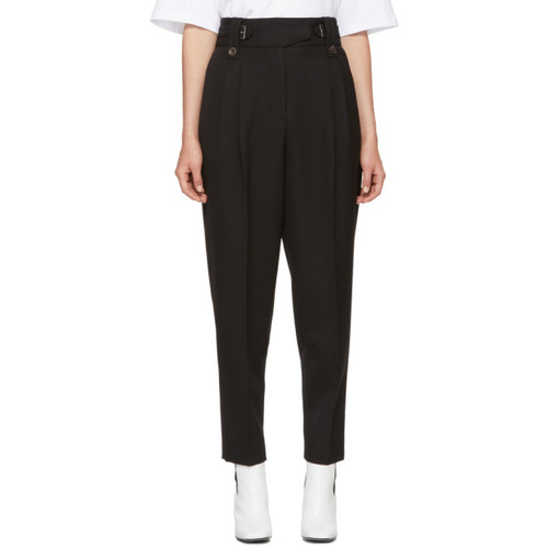 3.1 PHILLIP LIM Black High-Waisted Wool Trousers