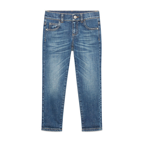 GUCCI Faded Stretch Skinny Jeans, Blue, Size 6-12