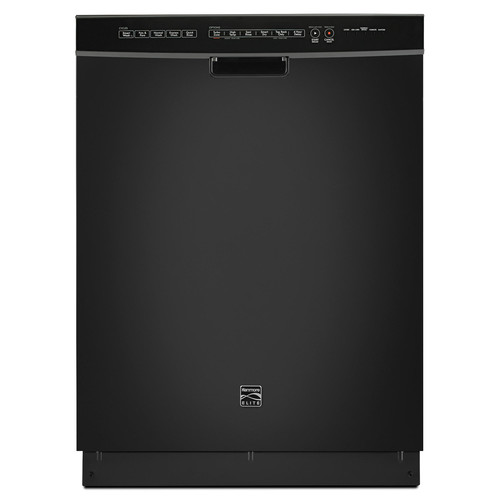 Kenmore Elite 14749 Dishwasher with Turbo Zone/360 Power Wash Spray Arm - Black Exterior with Stainless Steel Tub at 46 dBa