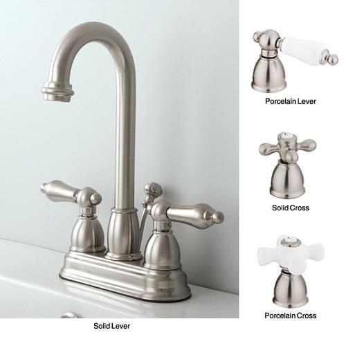 Satin Nickel High Arc Bathroom Faucet