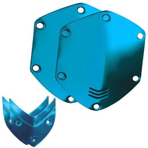 V-Moda Over-Ear Custom Metal Shield Kit for Crossfade Headphones, Ocean Blue