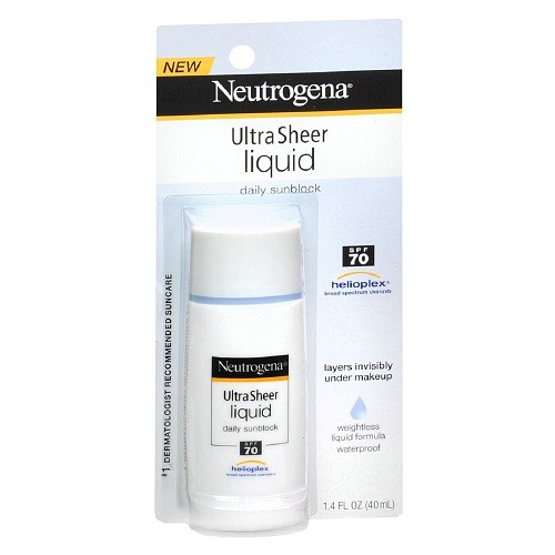 Neutrogena Ultra Sheer Liquid Daily Sunscreen Broad Spectrum SPF 70
